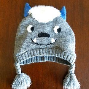 Monster Beanie Fleece Lined 12-24 Months